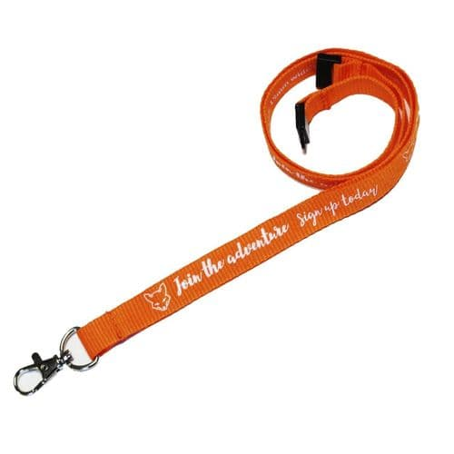 Eco-Friendly Personalised Bamboo Lanyards - Screen Printed
